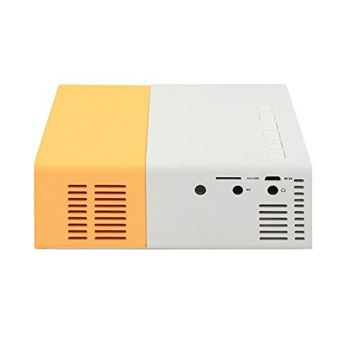 Peanutaso Mini proyector LED YG300 Alta resolución Ultra portátil HD 1080P HDMI Proyector USB Reproductor Multimedia Reproductor de Cine en casa