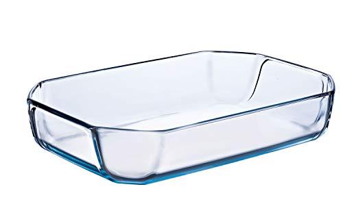 Pyrex Prep & Bake Glass Cooking Roasting Dish - High Heat Resistance Borosilicate Glass - 27 x 18 x 6.45 cm, 2.1 litres
