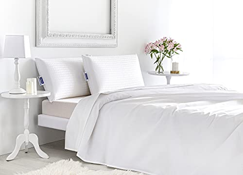 Todocama - Almohada viscoelástica Luxury Hotel. Doble Funda con Cremallera. Funda Jacquard con Tratamiento antiácaros. Termorregulable adaptabilidad al Cuello. (67 cm)