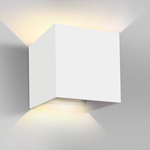 GHB 7W LED Wandleuchte Wandlampe mit einstellbar Abstrahlwinkel Design Wasserdichte IP 65 LED Wandbeleuchtung 2700K Warmweiß