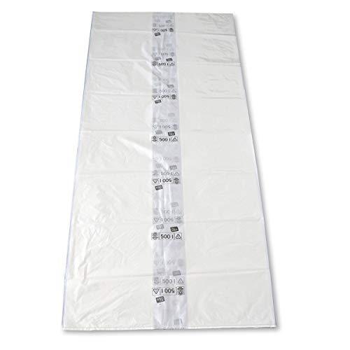 TRILine Müllsack/Abfallsack Öko: 500l, transparent – ✓reißfest ✓belastbar ✓100% recyclingfähig, 50 Sack, 500 l, reißfest-40 mµ