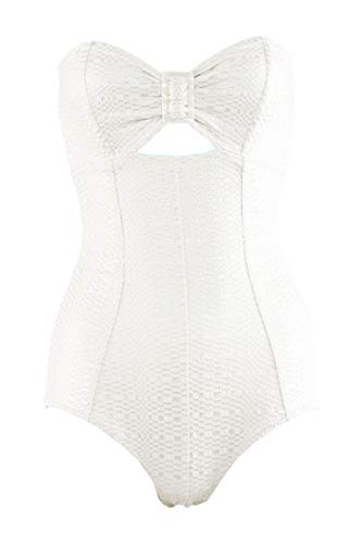 Lisa Marie Fernandez Swimsuit Cream Buckle Bandeau Maillot SZ 2