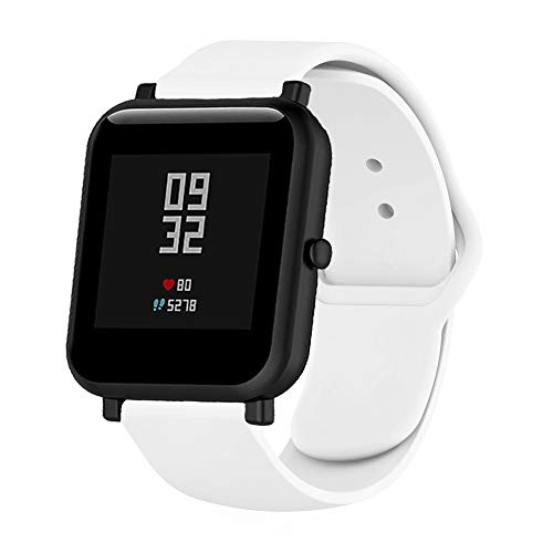 Pulseira De Silicone Para Xiaomi Huami Amazfit Bip (Branca - tipo Apple)