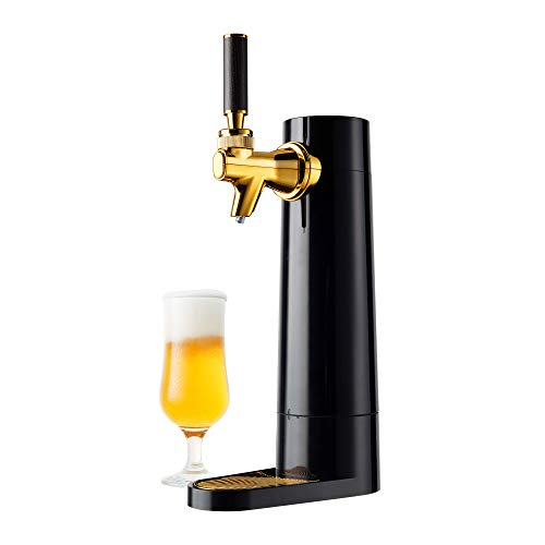 GREEN HOUSE Portable Beer Dispenser GH-UBEERO-BK(Black) - Mini Kegerator for Home, Ultra Fine Foam Enhance & Keep Beer Taste Longer at Anytime, Anywhere. Suitable for Any Can or Bottle Type of Beer