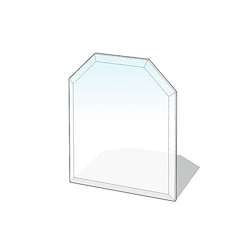 Glasbodenplatte Sechseck mit Facette