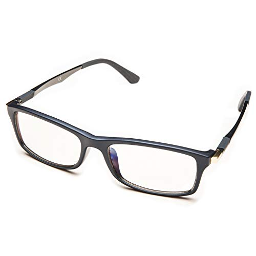 PROSPEK - Gafas Para Ordenador Premium – Dynamic – Con Filtro De Luz Azul Y Antirreflejante (+0.00 Dioptrías | Gris | Regular)