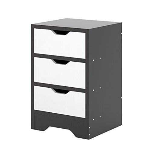 FTFTO Haushaltsprodukte Nachttisch mit 3 Schubladen und offenem Nachttisch Einfach zu montieren Robust und langlebig Klein