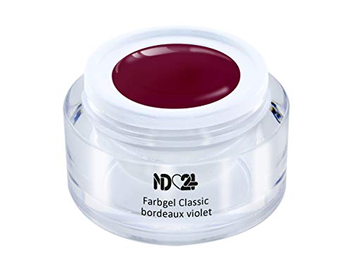 Uv Led Farbgel - Gel Classic Bordeaux Violet - Rot Color - Studio Qualität - Made in Germany - 5ml