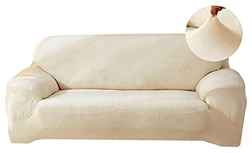 Funda elástica para sofá de 1/2/3/4 plazas, de terciopelo