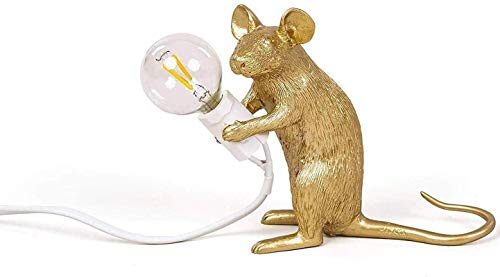 Lámpara de mesa de ratón Lámpara de ratón Lámpara de lectura Lámpara de cabecera Lámpara de araña de resina Lámpara colgante LED DIY Soporte de lámpara de luz colgante decorativo (cable de 1,5 M, con
