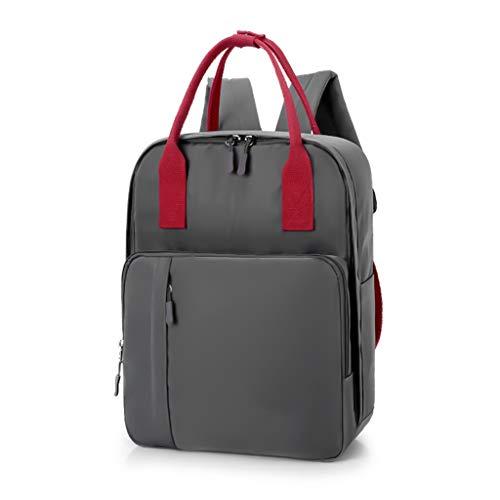 Multifunktionale große Windel Tasche Rucksack Tasche, Mutter und Baby Bag Lady Rucksack, wasserdichter Reiserucksack, geeignet für ausgehen, einkaufen (Farbe : Gray)