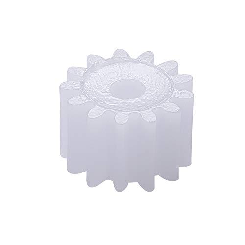 Othmro Plastic Gear 13 Teeth 0.5 Modulus Pulley Belt Shaft Robot Motor Worm Crown Hand DIY Car Toy Kit Hobby 132A White Assortment Accessories 20pcs