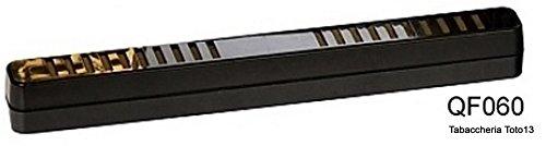 Madelcar - Umidificatore per sigari rettangolare, stretto, nero 06305MD