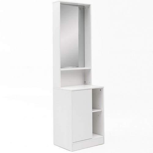 Wohnling WL5.728 schminkkonsole met spiegel, hout, wit, 50 x 180 x 39,5 cm