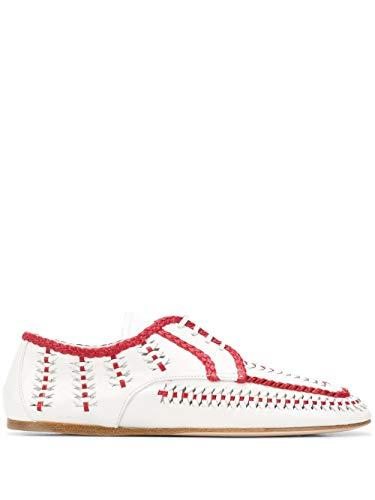 Prada Luxury Fashion Damen 1E177M3AVHF0970 Weiss Leder Schnürschuhe | Frühling Sommer 20