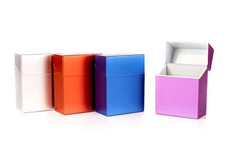 4 er Set Zigarettenbox XXL bunt Sortiert für Big Box mit 30 Zigaretten Etui Kunststoff