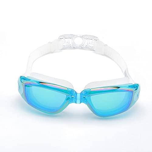 WHBGKJ Occhialini da Nuoto per Bambini Anti-UV Electroplating Anti-Fog Costume da Bagno Occhiali da Nuoto Immersioni Regolabili Occhiali da Nuoto Occhiali da Donna Uomini Nuoto Goggle con Scatola