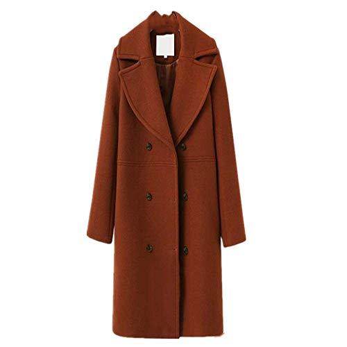 NOBRAND Damen Mantel Trenchcoat Wollmantel Übergröße Gr. Medium, ziegelrot