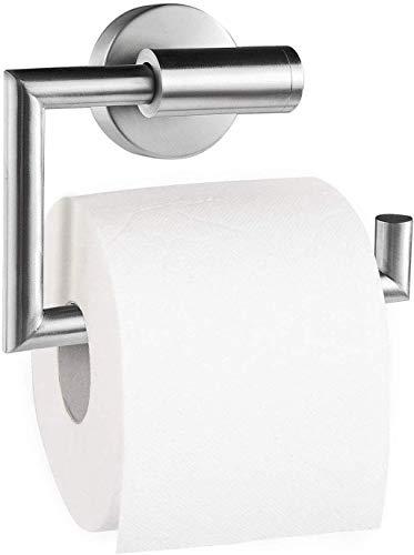 Dailyart Toilettenpapierhalter Toilettenpapierrollenhalter Klopapierhalter Klorollenhalter Klopapierrollenhalter Kleben Ohne Bohren, Edelstahl, Gebürstet