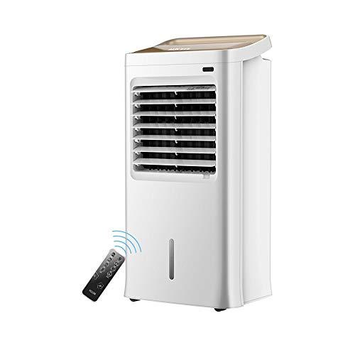 XSJZ Klimaanlagenlüfter, Fußbodenheizung Und -kühlung Klimaanlagenlüfter mit Doppeltem Verwendungszweck Haushaltswasserkühlventilator 12-Stunden-Fernbedienungs-Timing-Kühlschrank mobiles Klimagerät