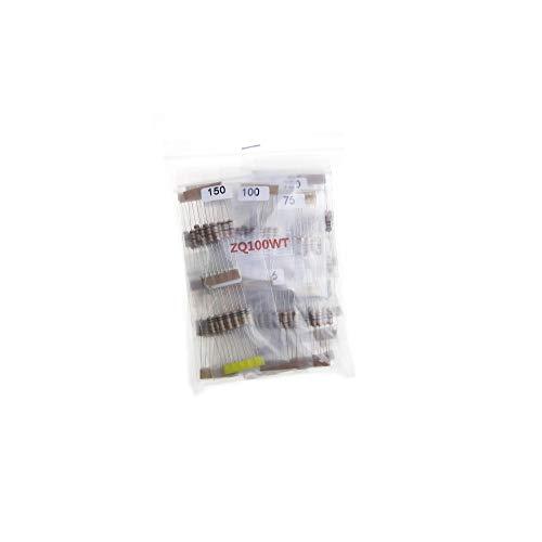 300Pcs 30Values Carbon Film Resistor Pack 0.1~750 Ohm 1W 5% Resistor Assorted Kit Set, 30 Values10Pcs= 300Pcs