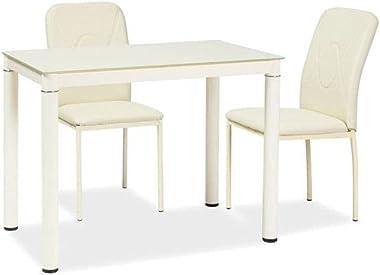 SIGNAL MEBLE Table 4 Personnes - Galant - 100 X 60 X 75 Cm - Beige