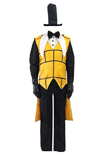 MingoTor Gravity Falls Bill Cipher Bill and Will Outfit Disfraz Traje de Cosplay Ropa Hombre XXXL