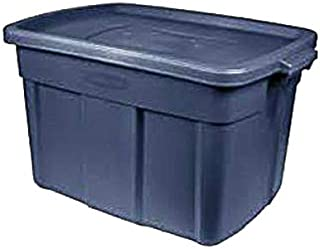Rubbermaid United Solutions RMRT140008 Roughneck Storage Tote, Indigo Blue, 14-Gallons - Quantity 6
