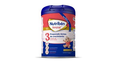 Nutribén Innova 3 - Leche en polvo de crecimiento para bebés con cuchara incluida, a partir de 12 meses, 1 unidad 800 g