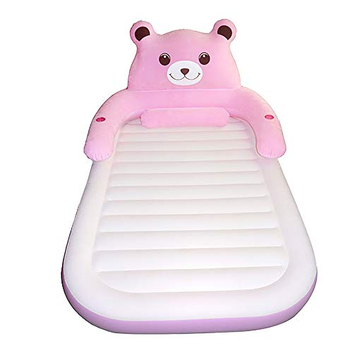 Air Mattress, Double Home Camping Inflatable Beds,Folding Outdoor Air Bed Portable Thick Air Bed,Best Air Mattresses for Guests, Family,Pink,120210cm