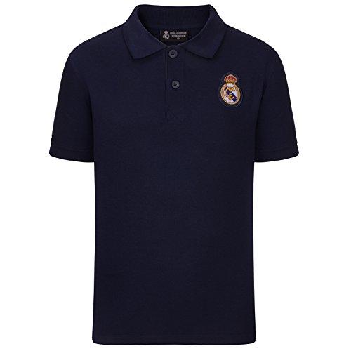 Real Madrid Polo Oficial Para Niño - con el Escudo del Club - 8 Años