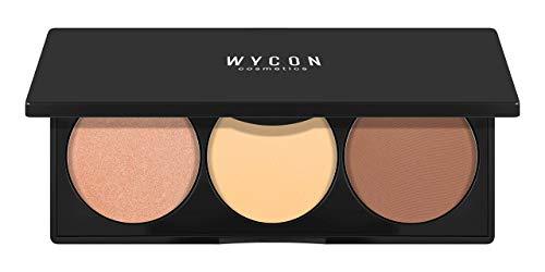 WYCON cosmetics PALETTE POLVERI VISO CONTOURING 2.0 palette di polveri che racchiude un illuminante, una terra e una cipria