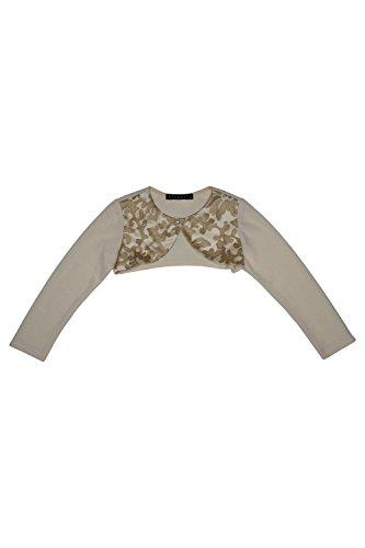Biscotti Girls' Royal Treatment Gold Knit Shrug, Sizes 2-16 (16)