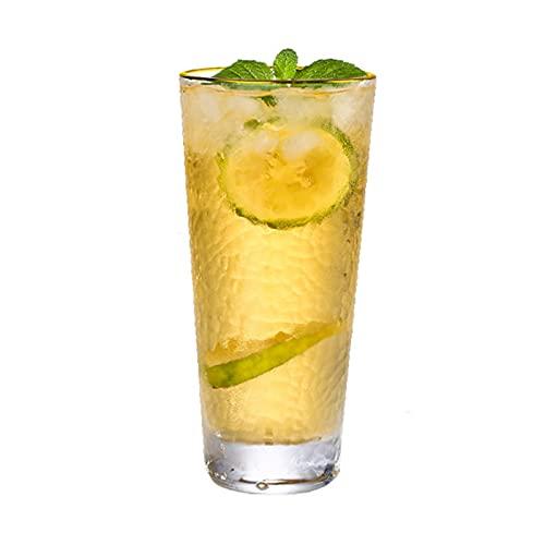 HDHUIXS Vidrio de Agua, Vidrio de Agua Transparente para Cerveza, Bebida, Jugo de Frutas Bebida Mixta, Vidrio de Viento Vertical (330 ml) (un Conjunto de Dos)
