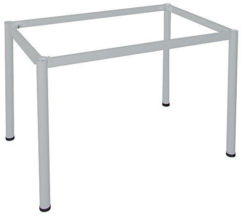 Dila GmbH Schreibtisch in verschiedenen Größen und Farben graues Metallgestell Konferenztisch Besprechungstisch