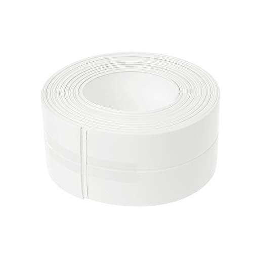 Yaonow Selbstklebendes Klebeband für Badewanne, Badezimmer, Dusche, WC, Küche und Wandabdichtung, Weiß