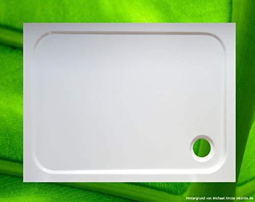Duschwanne 100x75 + Wannenträger + Ablauf - preisgünstiges KOMPLETTANGEBOT - Duschtasse 100x75x2,5 cm