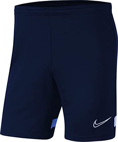 NIKE Dri-FIT Academy Pantalones Cortos de Deporte, Obsidian/Royal Blue/White/White, 10/12 años Unisex niños