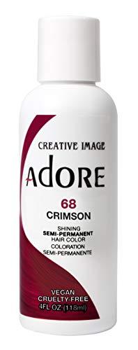Adore Semi-Permanent Haircolor #068 Crimson 4 Ounce (118ml) (2 Pack)