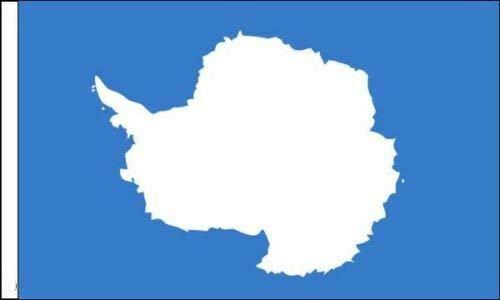 Flagmania® Antarctica Flagge für Boote, 45 cm x 30 cm, 3 Stück
