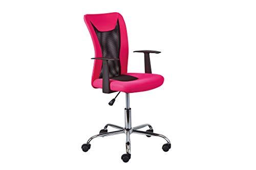 Inter Link Drehstuhl Bürostuhl Kinderdrehstuhl höhenverstellbar mit Armlehnen in Pink und Schwarz