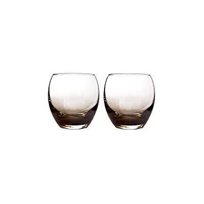 Denby 0.35 Litre Small Glass Halo// Praline Small Tumbler Pack of 2