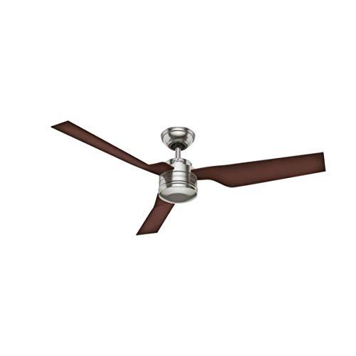 24372 75 wattsW 230 voltsV Hunter Ventilateur de plafond Low Profile II r/éversible ailes argent