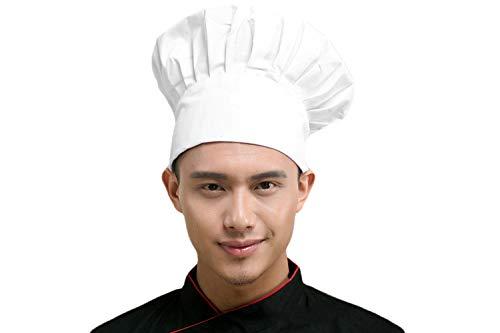 Verstellbare elastische Küche Kochen Kochmütze Chef Hüte Chef Cap Baumwolle Restaurant Hotel Cook Cap Bäcker Mütze Koch Arbeitskleidung Profimütze