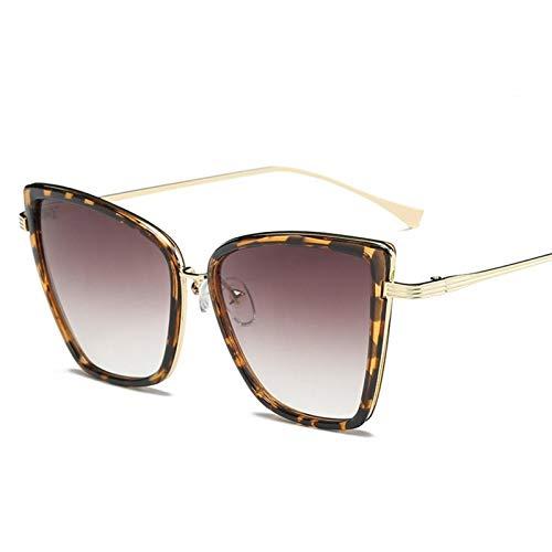 DFSMG Gafas de Sol Mujeres Vintage Metal Glasses Mujeres Retro Femme UV400 (Lenses Color : Tea)