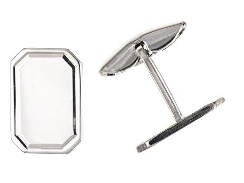 Uni rectangulaire Boutons de manchette – Argent Sterling 925 – Livré dans une boîte cadeau gratuit ou sac cadeau