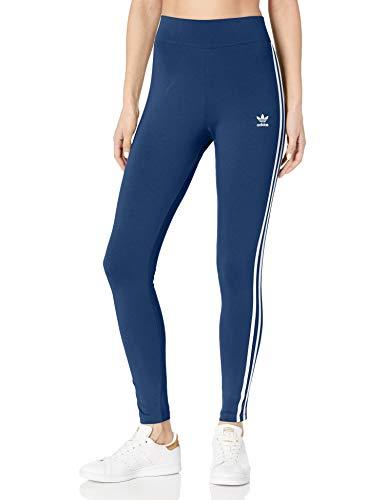adidas Originals Damen Leggings mit 3 Streifen - Blau - X-Klein