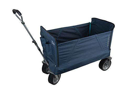 HUDORA 10450/00 Bollerwagen faltbar Flexible | Handwagen mit extrabreiten Reifen & abfaltbarer Seitenwand