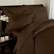 Elegant Comfort Juego de sábanas de 1500 Hilos, Resistente a Las Arrugas, Calidad egipcia, Ultra Suave, Lujoso, 3 Piezas, Individual, marrón Chocolate