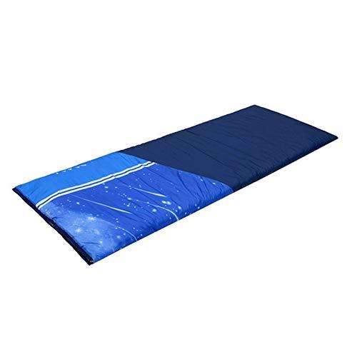 LICHUAN Einzelne Schlafsack für Erwachsene, leichte wasserdichte im Freien Schlafsäcke für Campingwandertourismus (Color : Blue, Größe : 1kg)